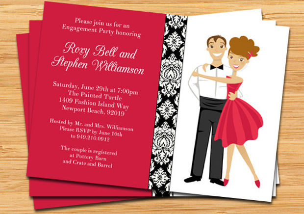 Engagement Party Invitations  Printable Psd Ai Vector Eps
