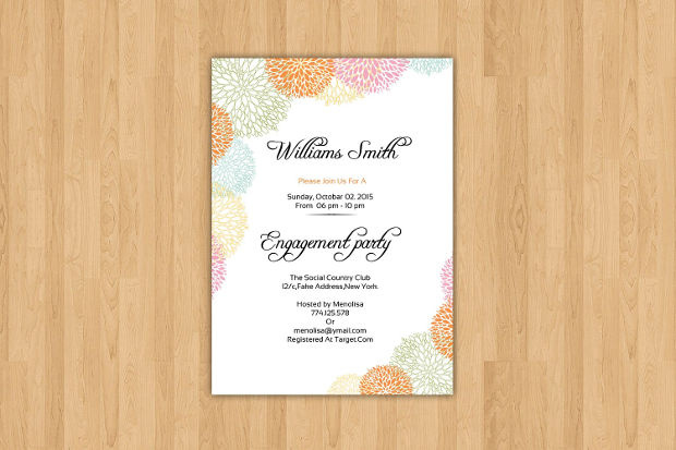 Printable Rustic Engagement Party Invitation