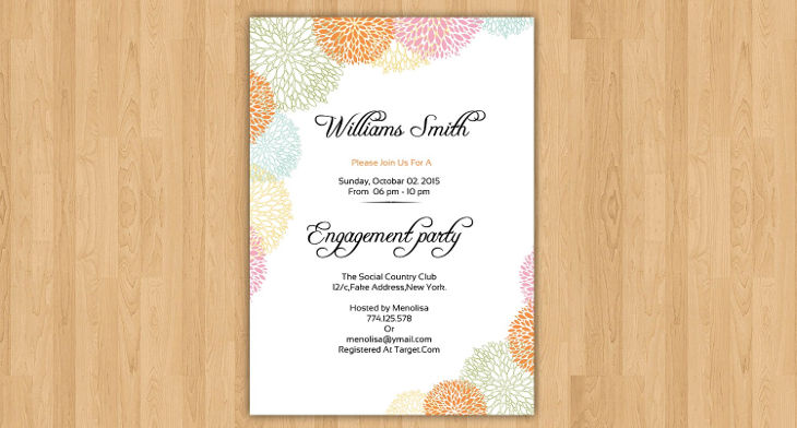 15 engagement party invitations printable psd ai vector eps img stopboris Image collections