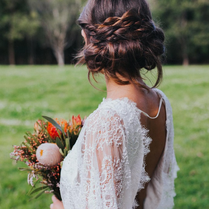 Braided Wedding Hairstyle for Long Hair