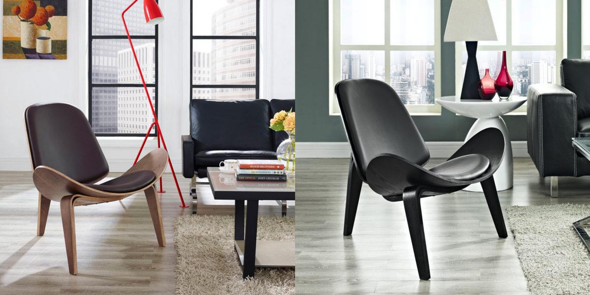 wegner style shell chair