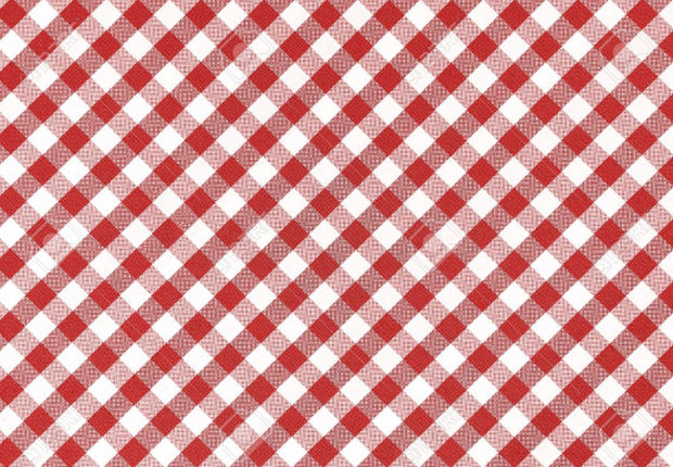 red and white checkered table cloth texture