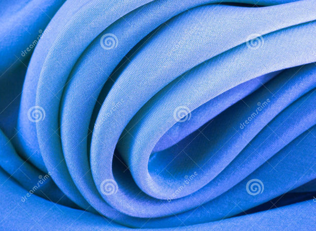Curved Blue Silk Cloth Texture