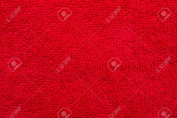 red cotton cloth material texture