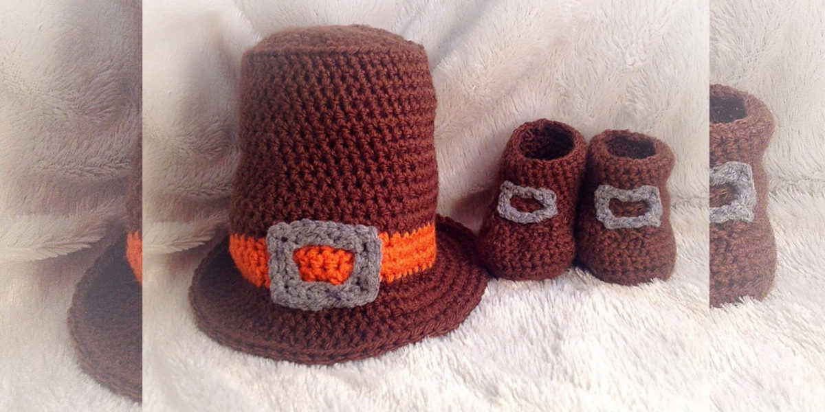 hand-crocheted-pilgrim-hat-booties