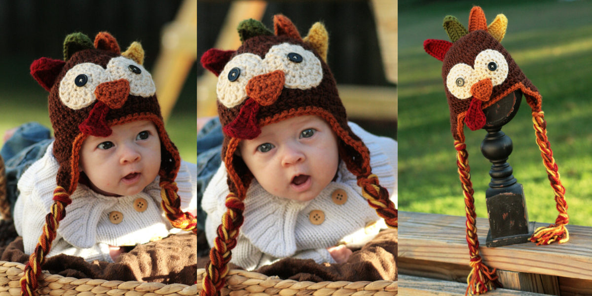 crocheted-thanksgiving-turkey-hat