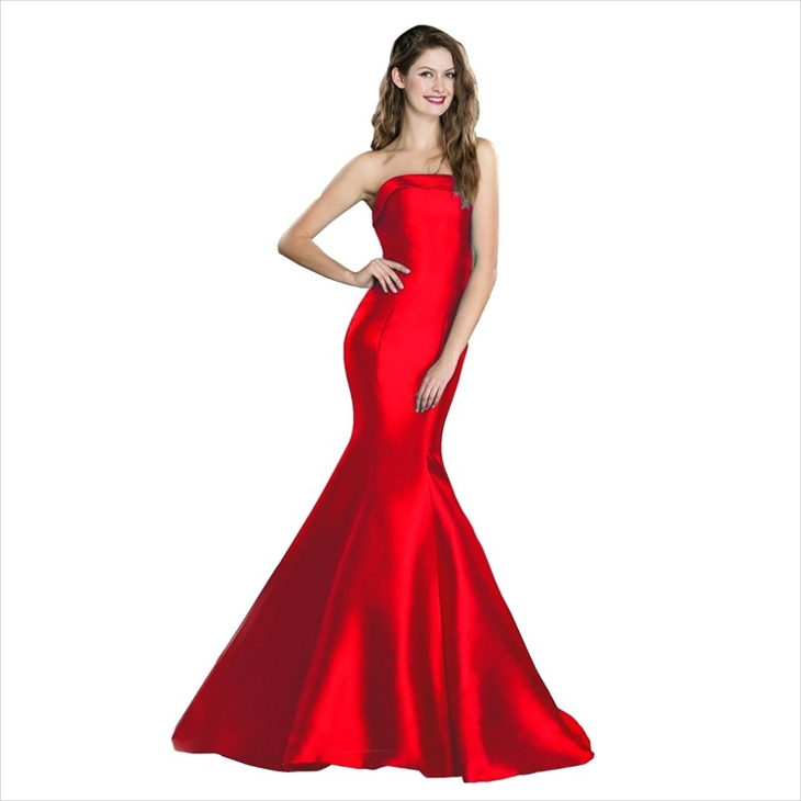 red strapless mermaid dress1