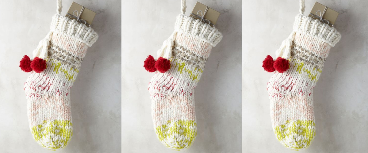 chunky knit stocking1