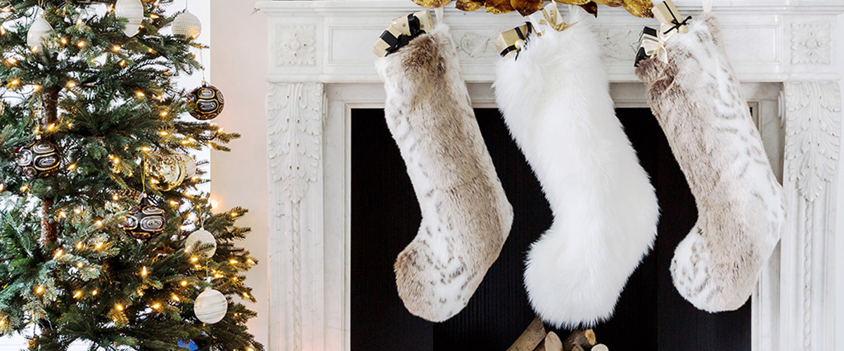lynx christmas stocking