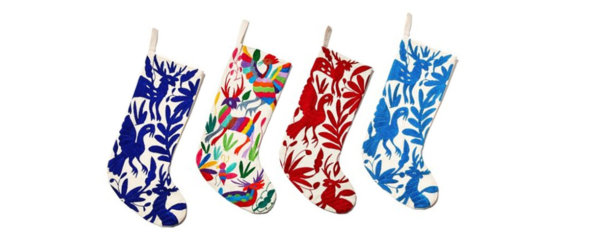 Hand Embroidered Stocking