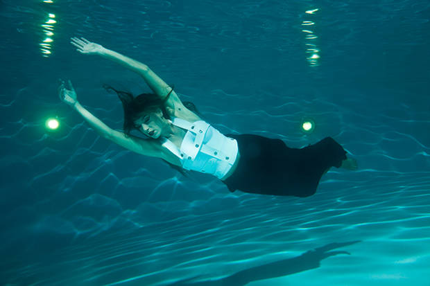 underwater modern fashion photography