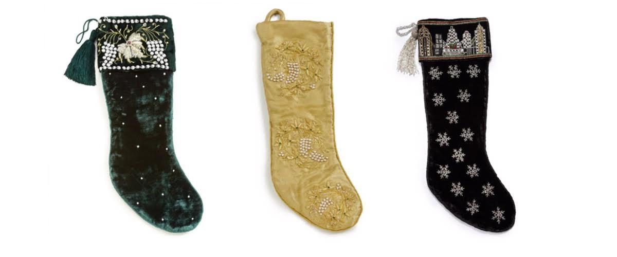 embroidered velvet stocking1