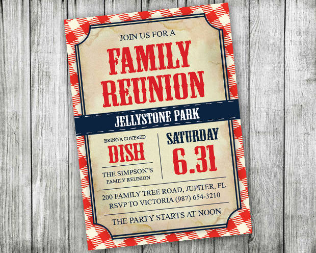 DIY Editable Family Reunion Invitation
