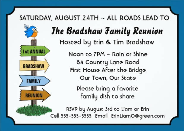 Family Reunion Invitations  Printable Psd Ai Vector Eps