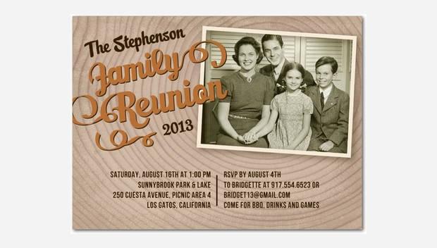 Vintage Family Reunion Photo Invitation