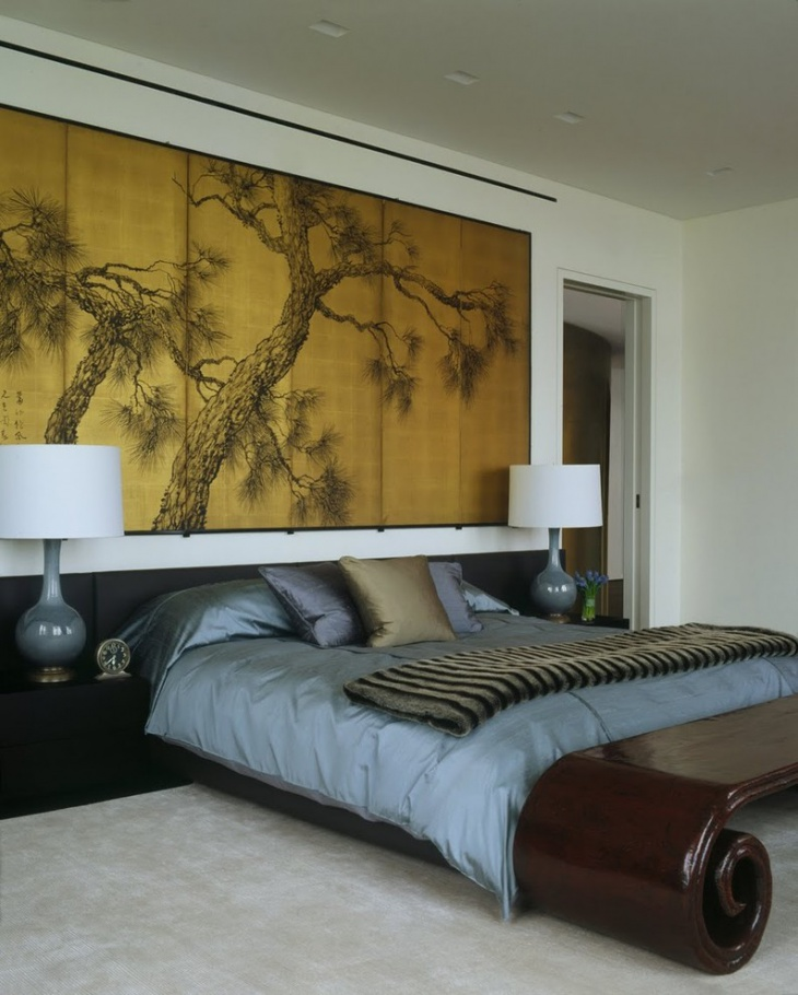 asian bedroom wall art design