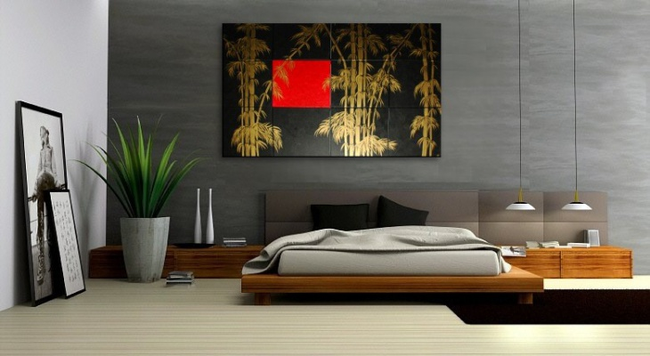 Asian Bamboo Wall Art