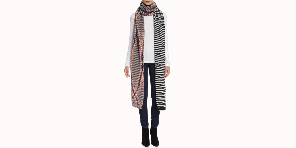missoni cashmere duo runway scarf