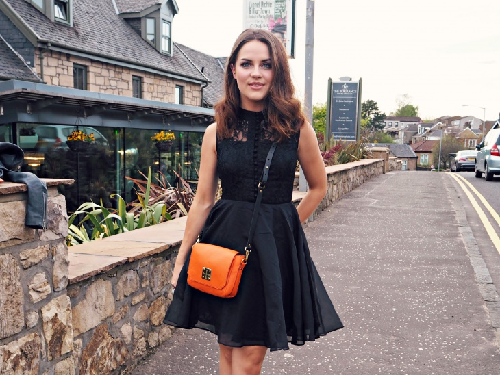 little black lace dress for women