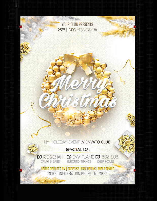 Christmas PSD Poster Design