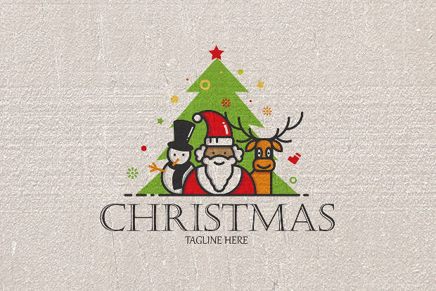 Christmas Santa Logo