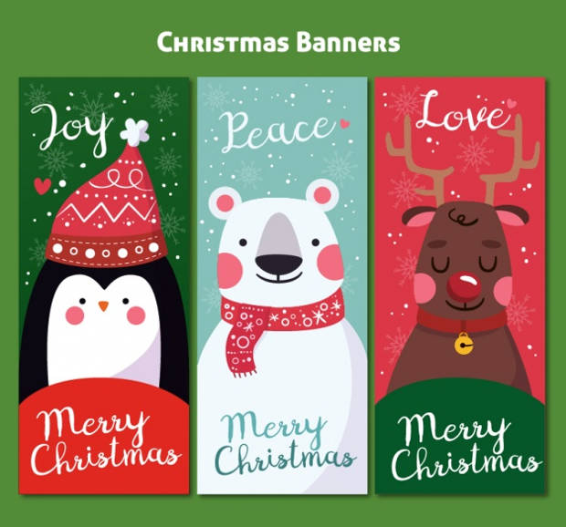 Free Colorful Christmas Banners