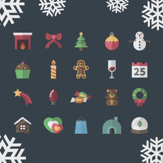 Vintage Christmas Icons