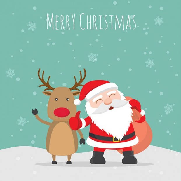 Free Merry Christmas Illustration