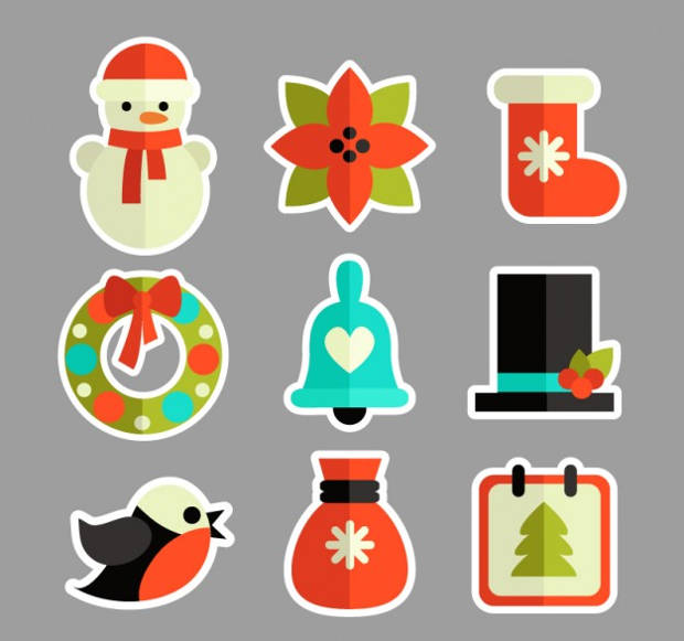 Colored Christmas Sticker