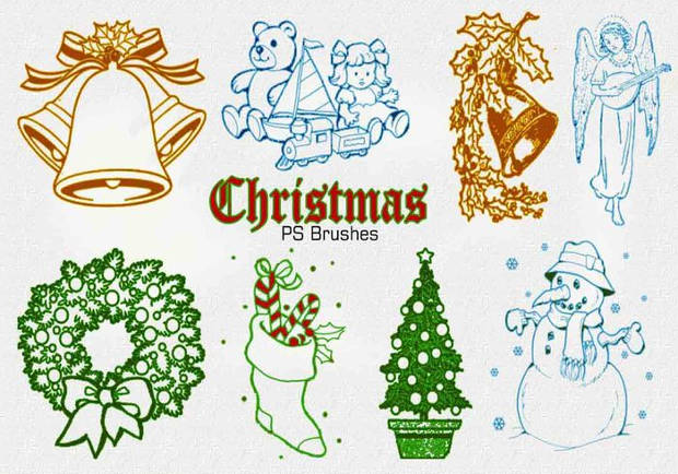 Christmas Vintage Photoshop Brushes