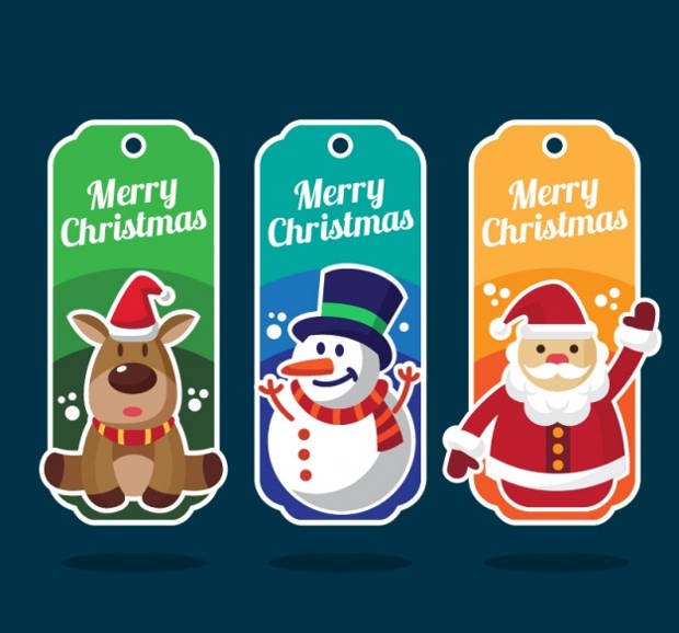 Colorful Christmas Label