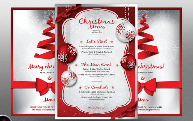 Christmas PSD Menu Design