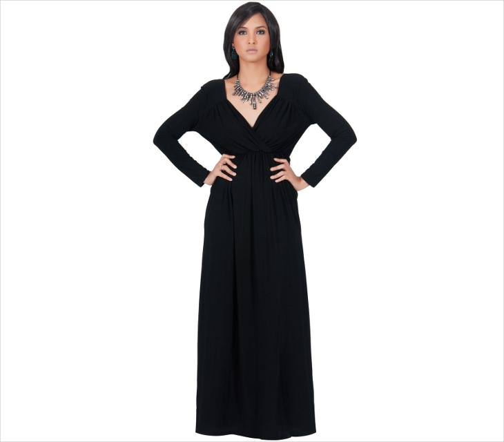 formal long black dress