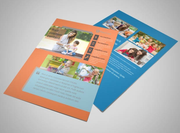 professional baby sitting flyer template