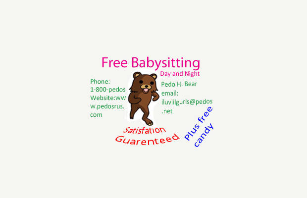 free cute babysitting flyer