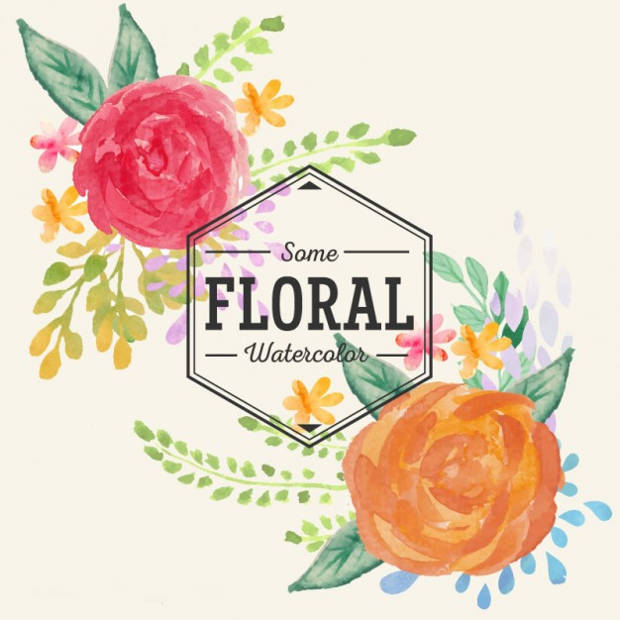 watercolor flower clipart free - photo #38