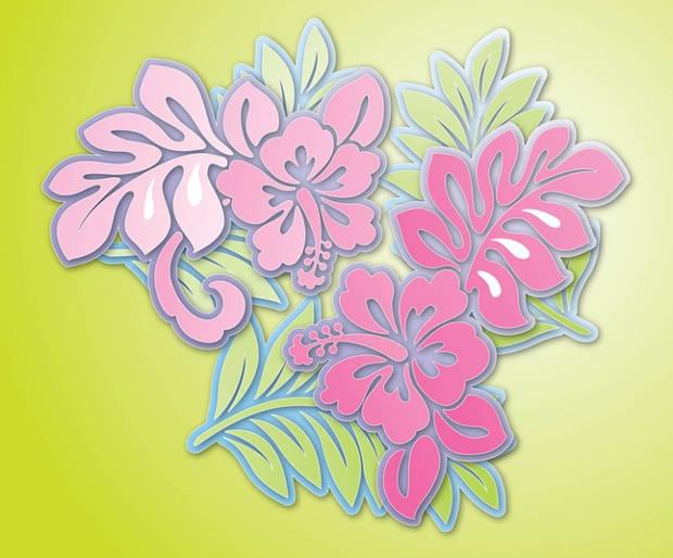 Pink Hibiscus Flower Vector