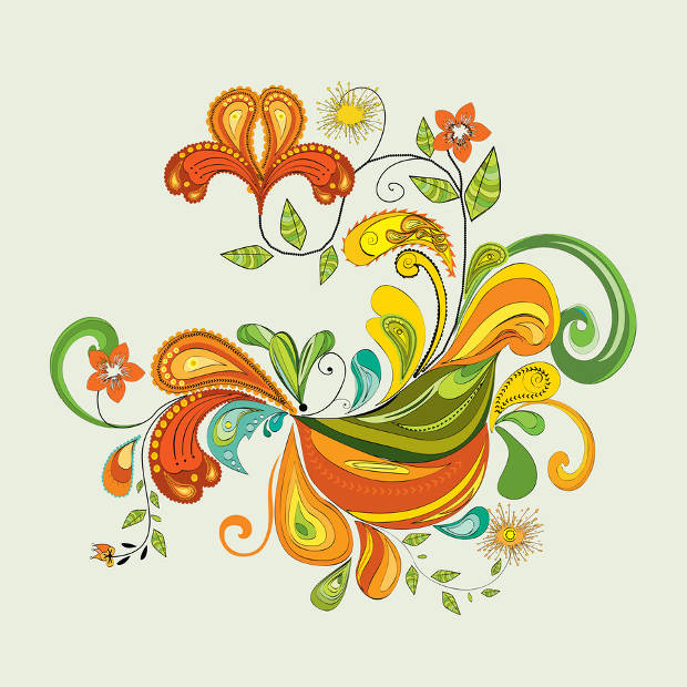 Colorful Abstract Flower Vector