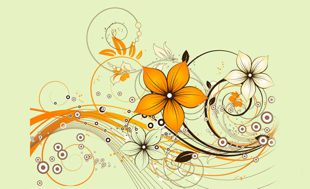 Elegant Abstract Flower Vector