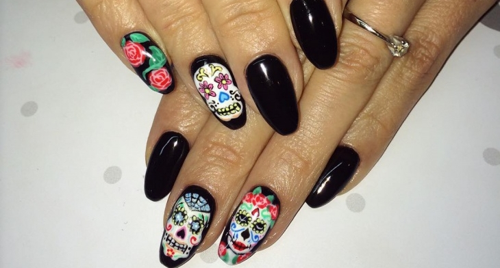21 Sugar Skull Nail Designs Ideas Design Trends Premium Psd