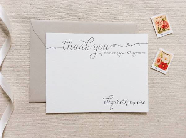 Personalized Small Business Thank You Card