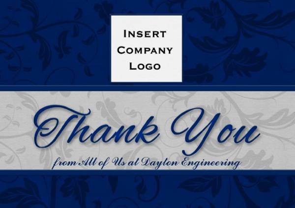 15 business thank you cards printable psd eps format design personalized business damask thank you card colourmoves Choice Image
