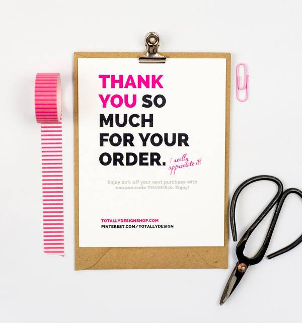 Printable Creative Business Thank You Card