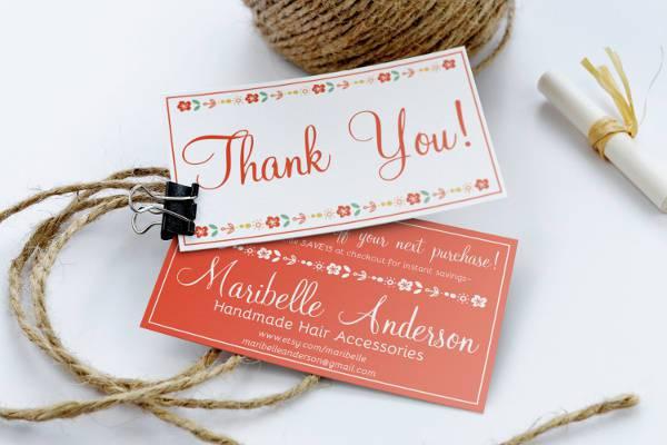 Creative Business Handmade Thank You Card