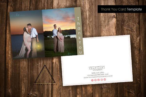 Custom Photography Business Thank You Card