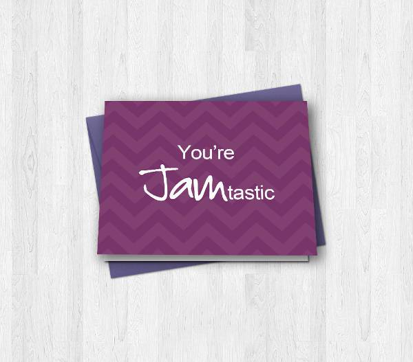 Purple Prosessional Business Thank You Card