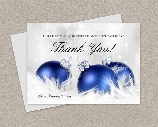 White Business Christmas Thank You Card