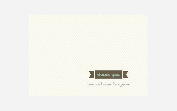Modern Blank Business Thank You Card