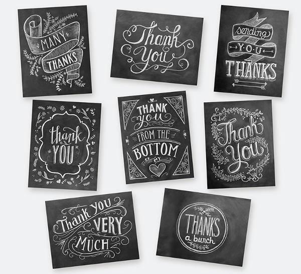 DIY Chalkboard Business Thank You Card