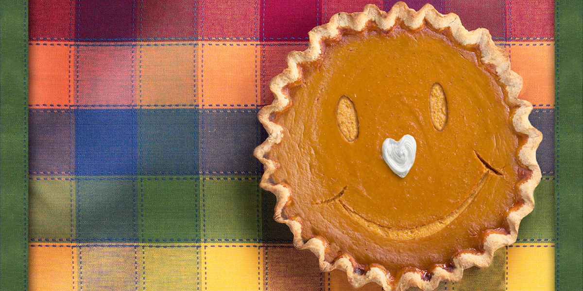 Smiley Pumpkin Pie by Blue Mountain